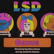 Labrinth, Sia & Diplo による新プロジェクト LSD、新曲「Genius」のMV公開!