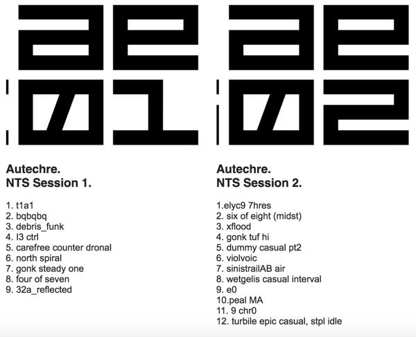 Autechre (オウテカ)、新作『NTS...
