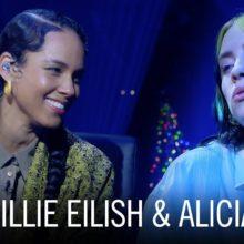 Billie Eilish と Alicia Keys が共演した「Ocean Eyes」のパフォーマンス映像公開!