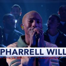 Pharrell Williams、米のTV番組 The Late Show に出演「Letter To My Godfather」を披露!