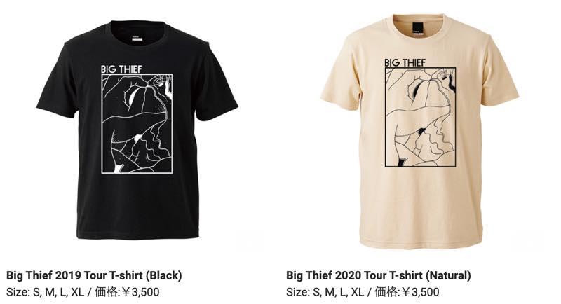Big Thief 2020 Tour T-shirt