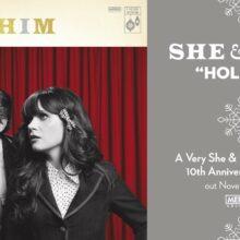 She & Him、ホリデー・コレクション『A Very She & Him Christmas』10周年記念LPを 11/12 リリース!